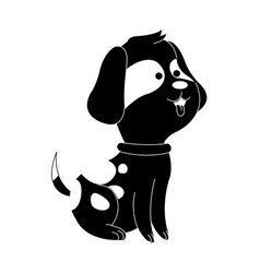 dog or puppy house pet icon image vector image