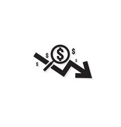 Dollar arrow decrease rate icon money arrow vector