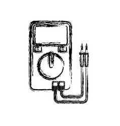 Electrical test meter icon vector