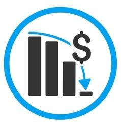 Financial Crisis Icon vector image