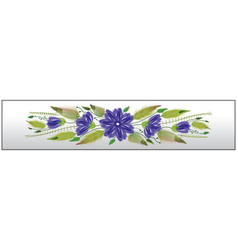 floral ornamental bookmark folk petrykivka style vector image