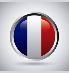 france emblem with french flag colors vector image