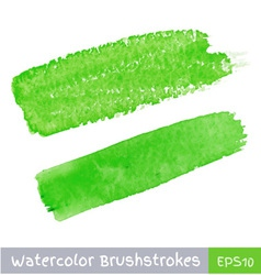 Green Watercolor Brush Strokes vector