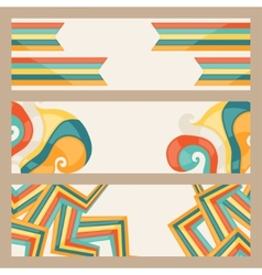hipster style horizontal banners vector image