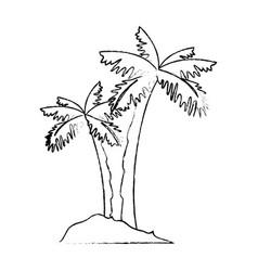 Isolated beach palms vector