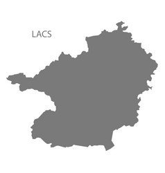 Lacs ivory coast map grey silhouette vector