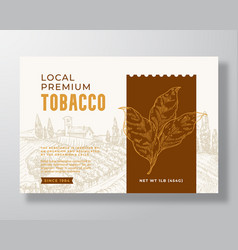 Local premium tobacco label template abstract vector
