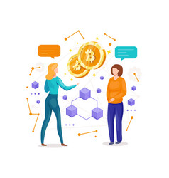 making investments for bitcoin and vector image