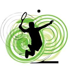 man playing tennis vector image vector image