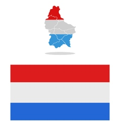map luxembourg vector image