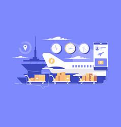 modern parcel delivery vector image