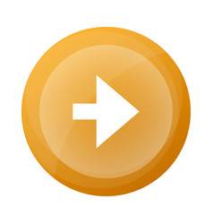 Orange round button with next arrow symbol vector