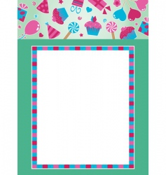 party frame with banner vector image