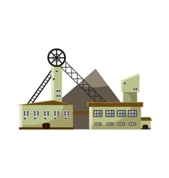 Production plant icon cartoon style vector image