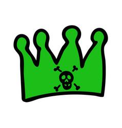 Punk rock crown clipart vector