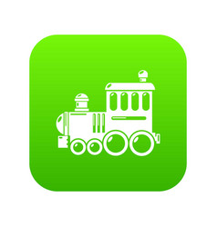 Railroad icon green vector