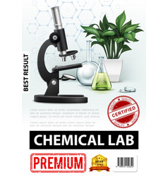 realistic chemical laboratory poster vector image