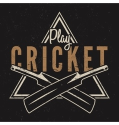 Retro cricket emblem design Cricket logo icon vector image