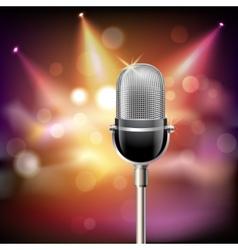 retro microphone background vector image