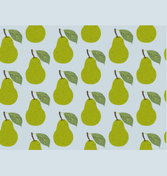 Seamless pattern fruit pear vector