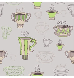 Seamless with cups vector