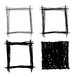 set hand drawn borders vector image
