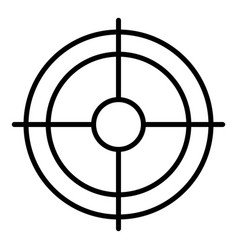 Shooting target icon outline style vector
