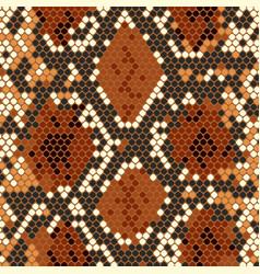 snake skin texture with imitation python skin vector image