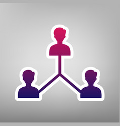 social media marketing sign purple vector image