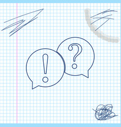 speech bubbles with question and exclamation marks vector image