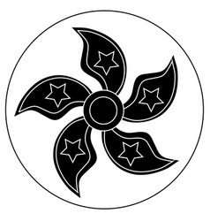 Spinner with five blades in the form of petals vector