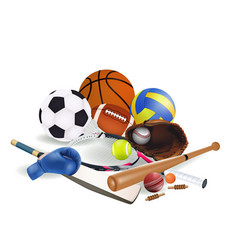 sports equipments vector image