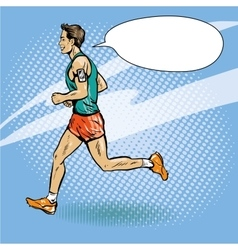 Sportsman running concept vector