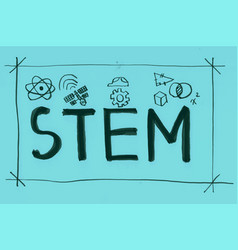 Stem word banner vector