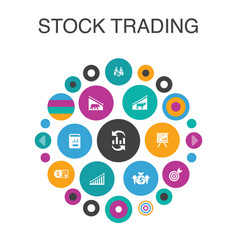 Stock trading infographic circle concept smart ui vector