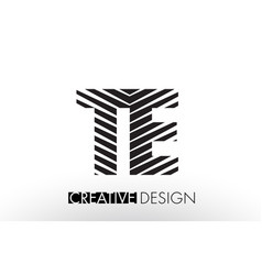 Te t e lines letter design with creative elegant vector