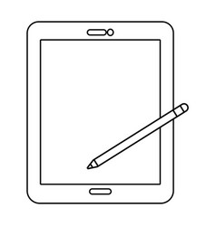 Technology tablet cartoon vector
