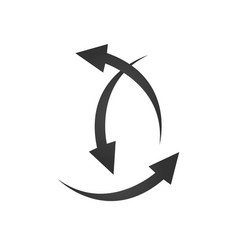 three arrows pointing in different directions vector image