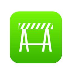 traffic barrier icon digital green vector image