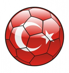Turkey flag on soccer ball vector