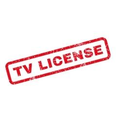 TV License Rubber Stamp vector