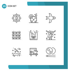 User interface pack 9 basic outlines of vector