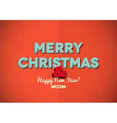 Vintage Merry Christmas card with scratches vector image
