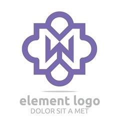 violet element w purple design symbol icon vector image