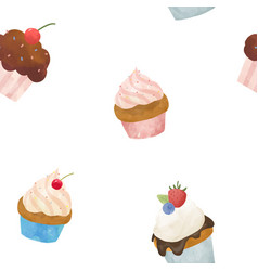 Watercolor sweets set vector