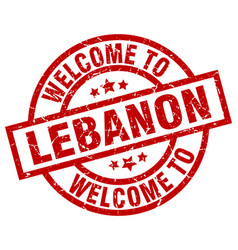 Welcome to lebanon red stamp vector