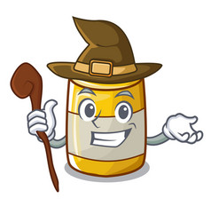 witch yellow mustard in plastic bottle cartoon vector image