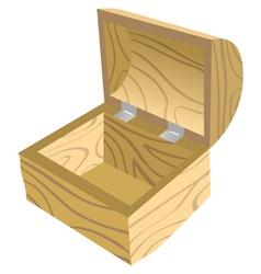 antique open wooden chest vector image