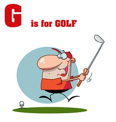 Golf cartoon vector image vector image