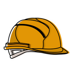 helmet side view watercolor silhouette vector image